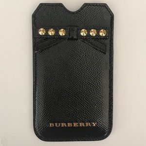 Burberry London patent leather card case